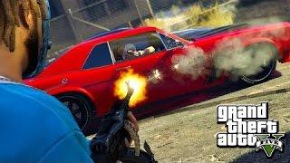 GTA 5 Online - Bloods Vs. Crips Gang Shootout [PS4 Gameplay]