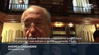 Giornata d'Autunno, FAI: ''Italiani educati alla bellezza scoprendo luoghi inaccessibili''