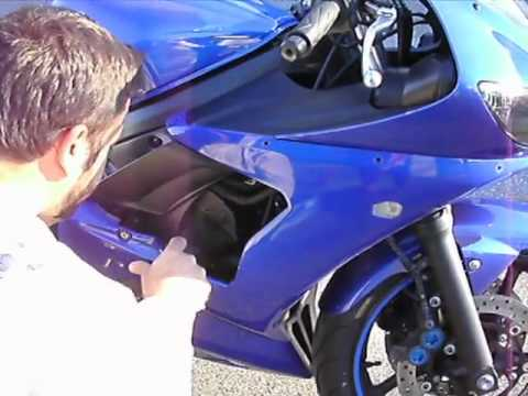 2003 Yamaha R6 Frame Slider Install Youtube