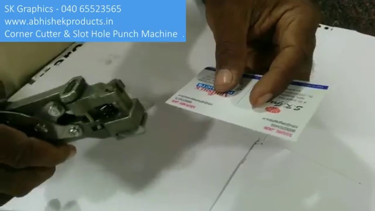 Demo Of Corner Cutter and Slot Punch 2 in 1 Machine By Abhishek ...