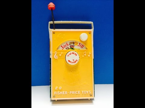 Vintage Fisher Price Music Box Jack And Jill Radio