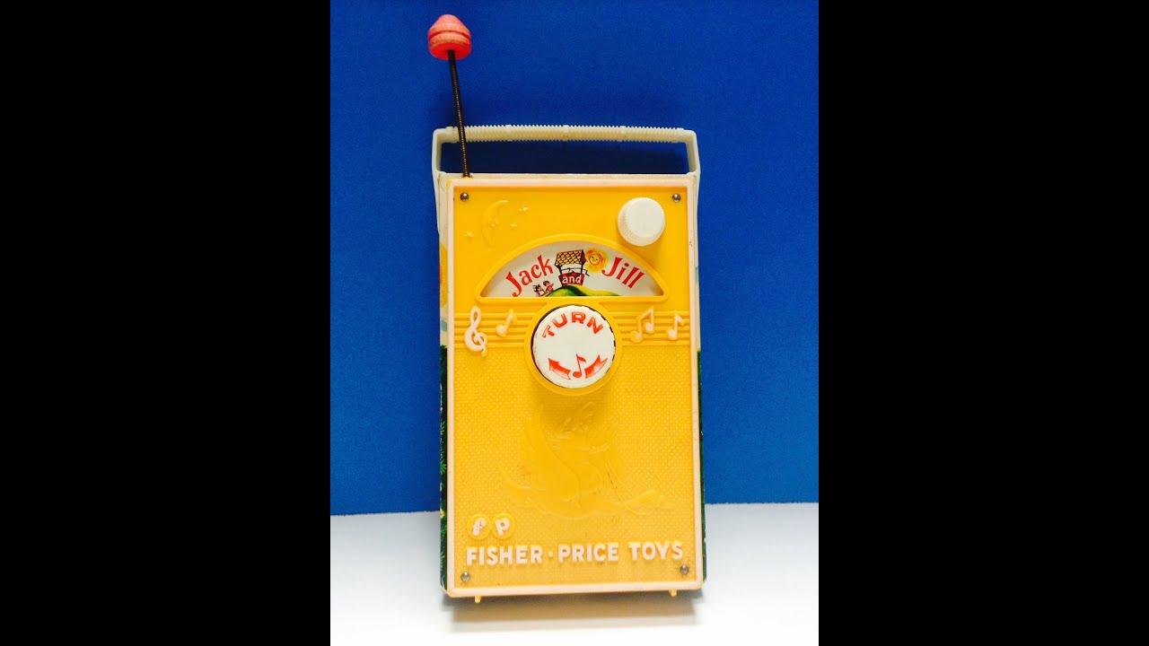 Vintage Fisher Price Pocket Radio Music Box works Where Has My Little Dog Gone