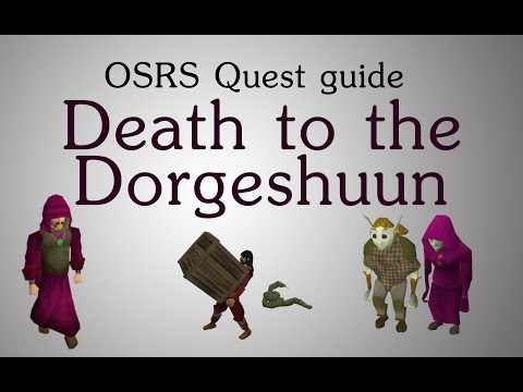 [OSRS] Death to the Dorgeshuun quest guide