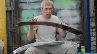 видео Покраска брызговиков в цвет кузова