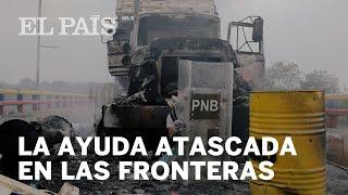 Atascada la ayuda en las fronteras de Venezuela