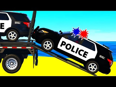 Thumbnail: POLICE SUV CARS Transportation in Spiderman Cartoon for Children and Colors for Kids Nursery Rhymes