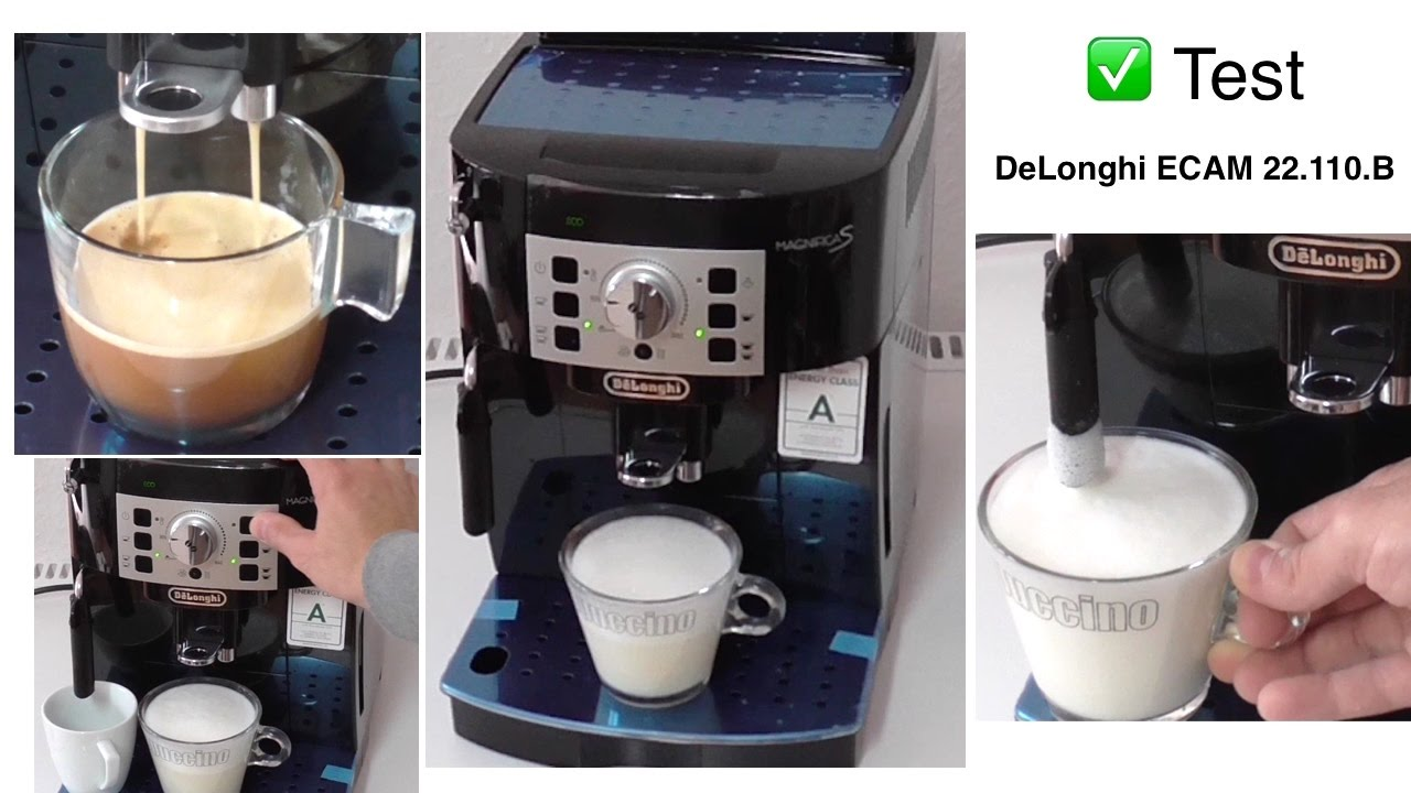 test delonghi ecam magnifica s kaffeevollautomat youtube. Black Bedroom Furniture Sets. Home Design Ideas
