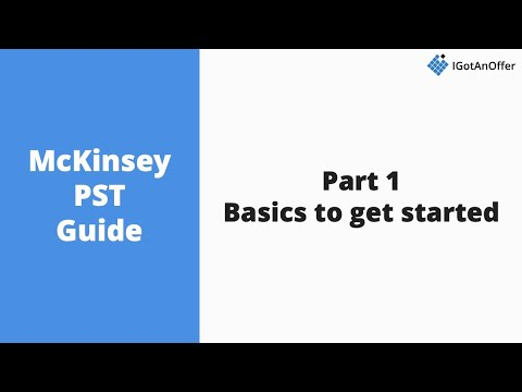McKinsey PST - Basics to get started