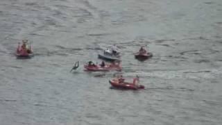 Katastrofa lotnicza w Płocku- Marek Szufa wbija się w wodę swoją awionetką