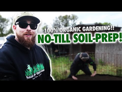 100% Organic Gardening No-Till Soil Prep (Lasagna Tech)