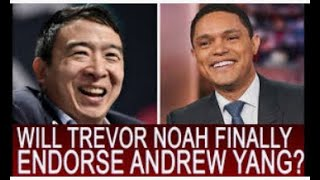 Trevor Noah & Obama Support Andrew Yang -  Unique Ideas to His 2020 White House Bid   The Daily Show