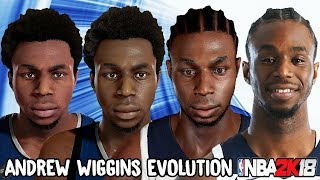 Andrew Wiggins Ratings and Face Evolution (NBA 2K15 - NBA 2K18)