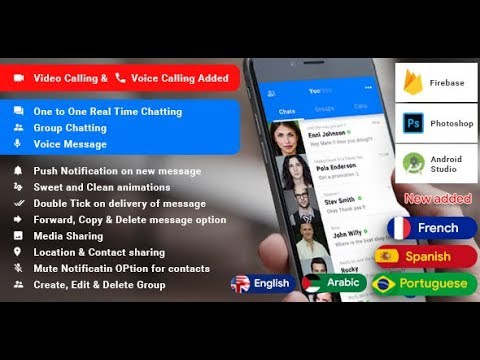 Android Chatting App With Voice/Video Calls Free  Source Code