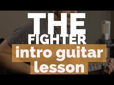 The Fighter - GUITAR INTRO LESSON! - Keith Urban