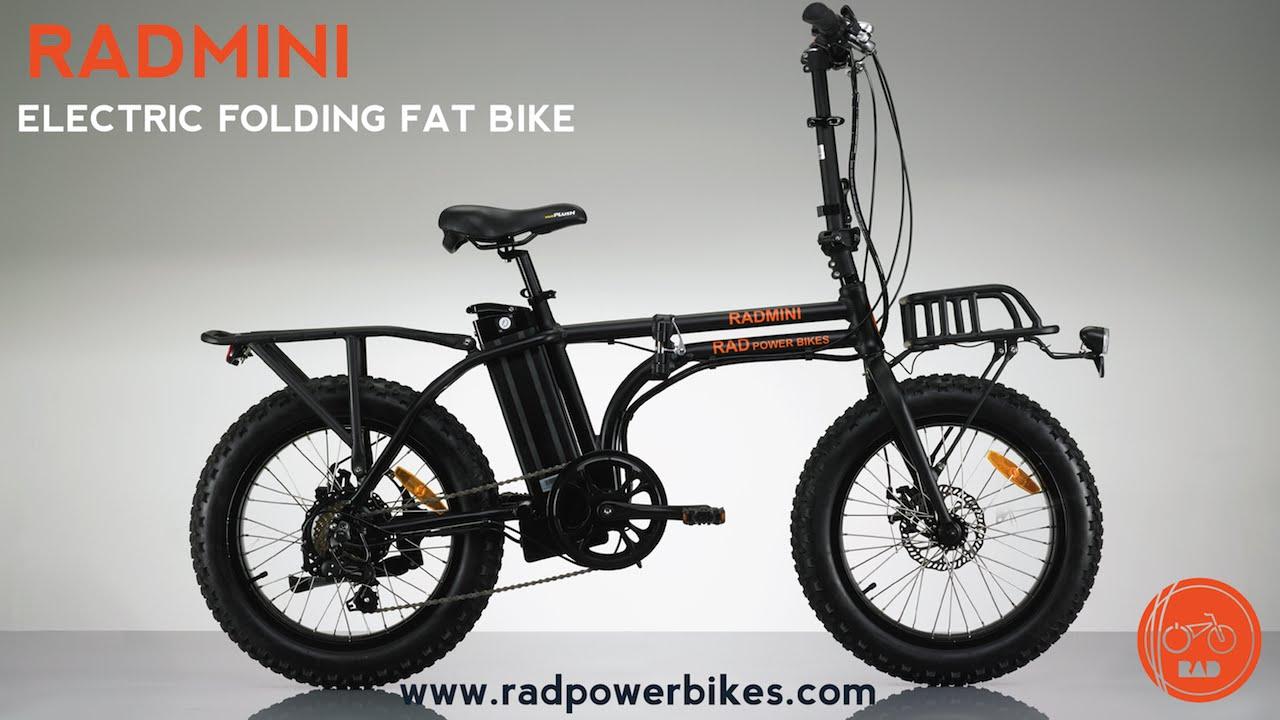 2017 Radmini Electric Folding Fat Bike From Rad Power