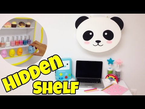 Hidden shelf(kawaii crafts)EASY DIY room decor ideas