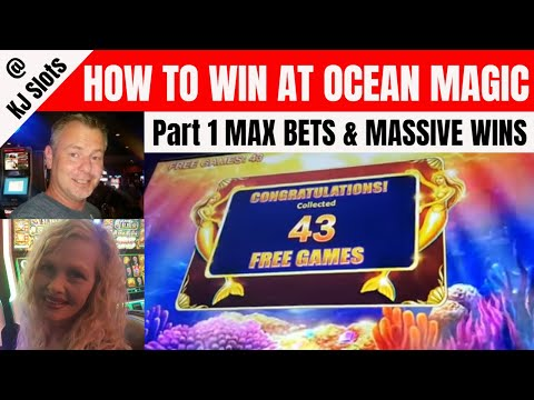 Crazy Run pt. 1 - Multiple Massive WINS - Max Bet - How to Win on Ocean Magic