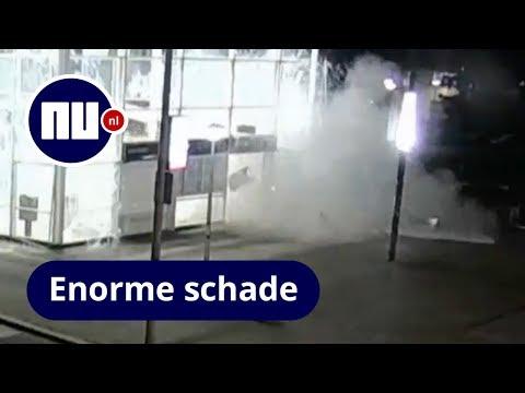Politie toont beelden explosie bij plofkraak metrostation in Amsterdam | NU.nl