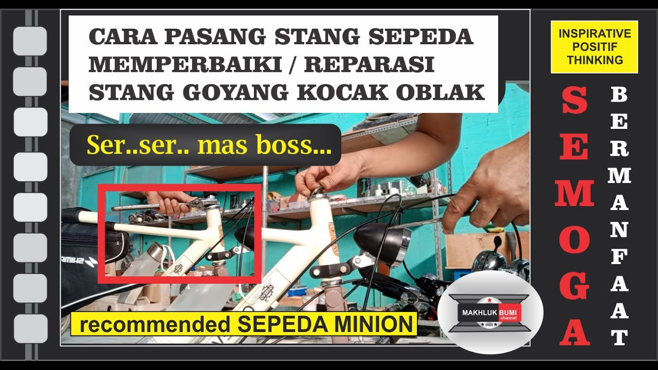 Cara Memperbaiki Stang Sepeda Goyang Oblak Pasang Komstir Tutorial Tips Perbaikan Stang Minion Youtube