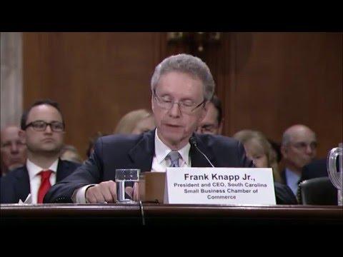 Frank Knapp,  of ASBC &  co-founder SCSBCC Testifies before Senate EPW Committee