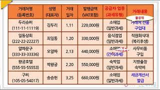 206.부가세실무-신용카드매출전표등 수령명세서