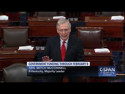 Sen. Mitch McConnell on Government Funding (C-SPAN)