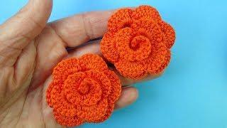 Аленький цветочек крючком How to crochet flower - pattern