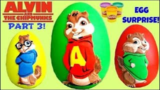 Alvin and the Chipmunk: The Road Chip PART 3 feat. ALVIN Play-doh Egg Surprise // TUYC |Toys review