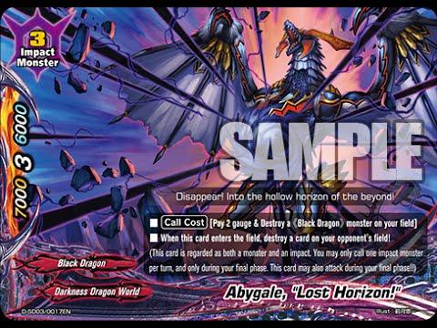 Buddyfight Darkness Dragon World Black Dragon Deck Profile Youtube