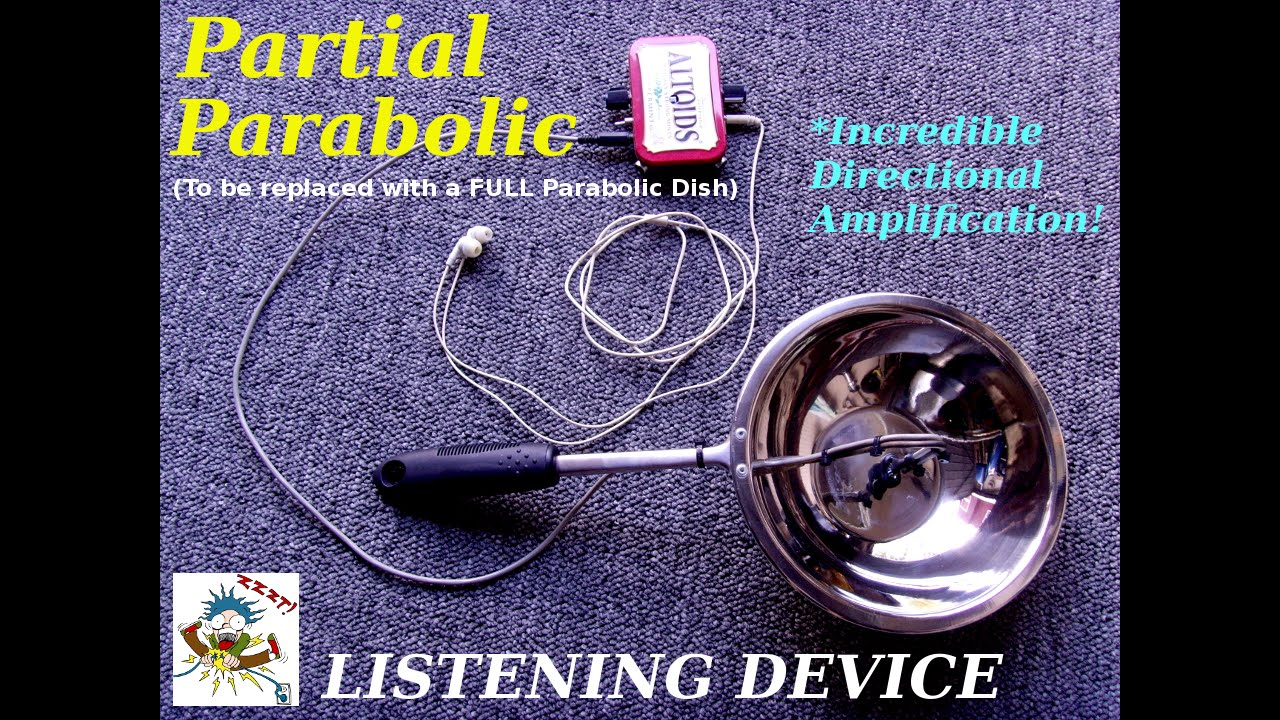 Parabolic Microphone for my Bionic Ear Amplifier Circuit
