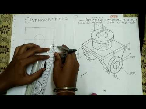 Orthographic Projection Example:-2 [HINDI]