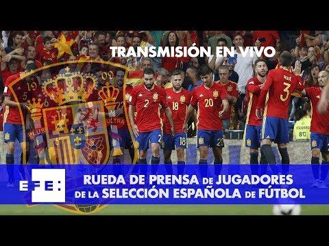 Rueda de prensa de jugadores de la Selección Española de Fútbol