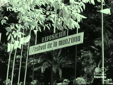 VILLAVICIOSA 1960  EN EL FESTIVAL DE LA  MANZANA   EL NODO DE  TVE