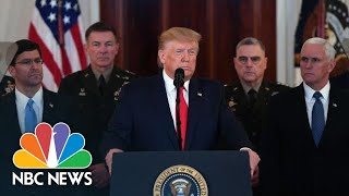 Full Remarks: Trump Speaks After Iran Launches Missiles At U.S. Forces In Iraq | NBC News