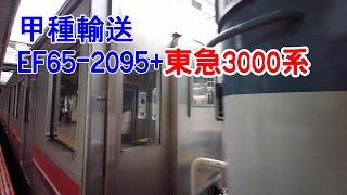 【甲種輸送】 FE65-2095 + 東急3000系 2020/5/22