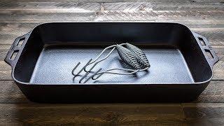 The Lodge Cast Iron Fish Pan | Unboxing and Vintage Comparison (4K)