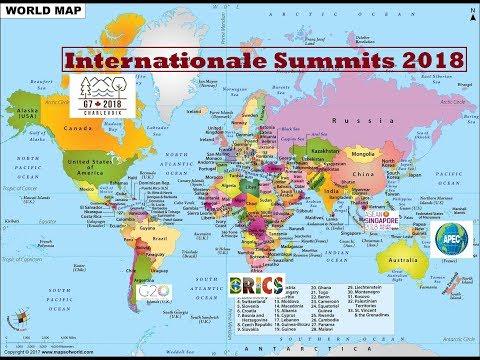 International Summits 2018-19  G-7 G-20 BRISC SAACR