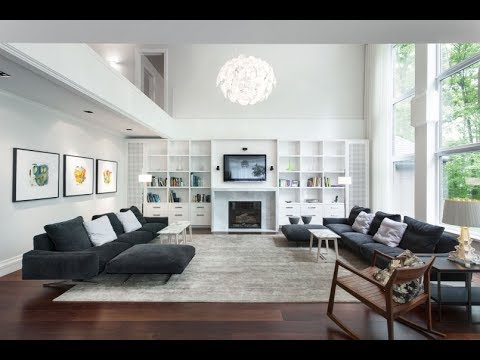 Living Room Design With Hardwood Floors Gold Wood Look Nice Grey Couch And Carpet Youtube Top Decor