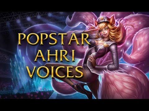 LoL Voices - Popstar Ahri - All 16 languages