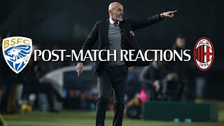 Post-match Reactions | Coach Pioli and Bennacer on #BresciaMilan