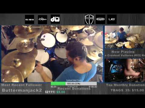 Them Crooked Vultures - DRUMS FULL album from www.twitch.tv/danwind86 on 11-25-15