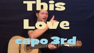 This Love (Maroon 5) Easy Guitar Lesson Strum Chords How to Play This Love Tutorial EAmDmCGDF