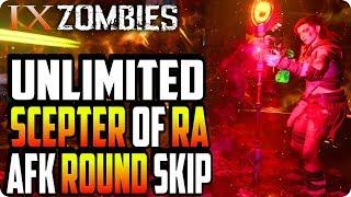 BO4 Zombie Glitches: Unlimited Scepter Of Ra AFK Round Skip Glitch - IX Zombie Glitches