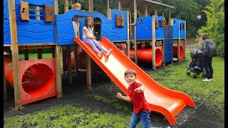 Thomas The Tank Engine Fun For Kids at the Playground with Slides