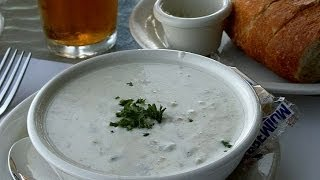 How To Make Clam Chowder (pork) Soup Old Vintage Recipe - Entree Food