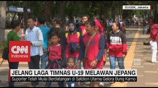 Download Video Antusias Suporter Indonesia Jelang Laga Timnas U-19 Melawan Jepang MP3 3GP MP4