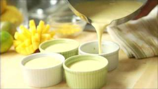 How To Make Flan With Fresh Mango (chef Jeff Mcinnis)