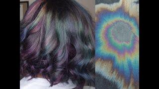 Oil Spill/Oil Slick/Iridescent Hair Color | Tutorial