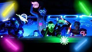 GLOW STICK HOT TUB PARTY!