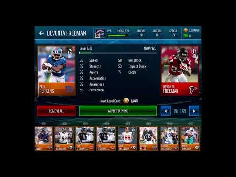 Madden Mobile 18 - How to Train Players + Marshall Faulk!